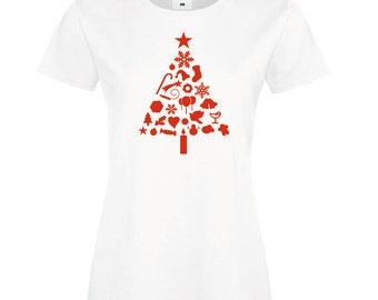 Christmas Tree - Womens T-shirt