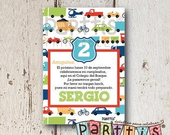 Transportation Party Printable Invitation