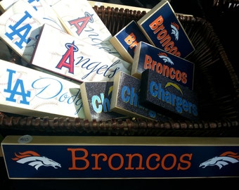SPORTS Block Sets- Angels, Dodgers, Chargers, Broncos