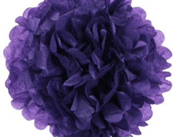 """8"""" Royal Purple Tissue Pom Pom Party Decoration - Item:TPP080105 - Just Artifacts Brand - Visit Our Store For More Colors & Sizes"""