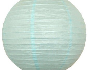 """12"""" Baby Blue Paper Lantern RPL120034 Just Artifacts Brand - Paper Lanterns for Weddings, Parties, & Home Decor"""