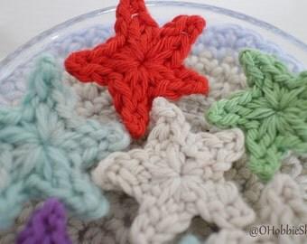 Crochet Star Applique Pattern - PDF