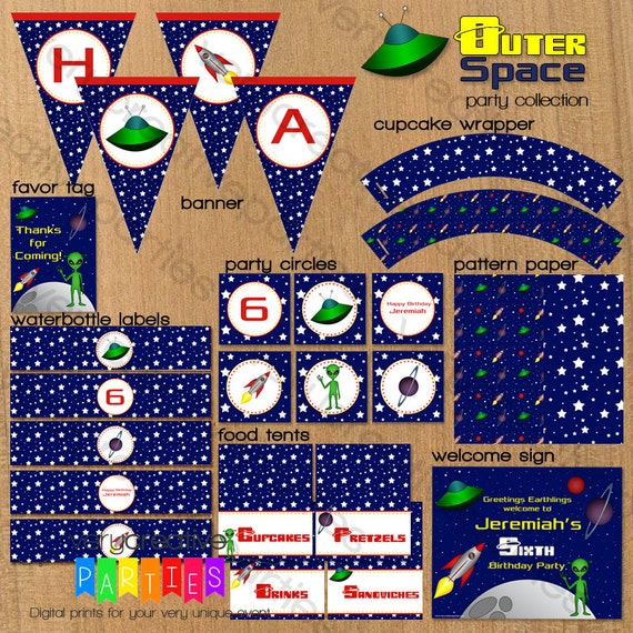 decorations for outer space outer space birthday party collection space ship party
