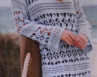 Handmade crochet top dress tunic jumper women crochet clothes MADE TO ORDER