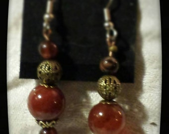 Tibetan Inspired beaded earrings...
