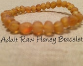 Adult Genuine Baltic Amber Bracelet Certified Authentic. Anti-Inflammatory, Reduce sympoms: Carpal Tunnel, Headaches, Arthritis, more