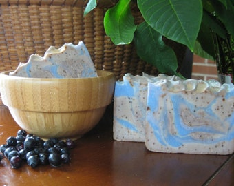 Wild Blueberry Soap, All Natural Soap, Handmade Soap, Cold process Soap, Handcrafted Soap, Artisan Soap, New Hampshire Soap, Bar Soap