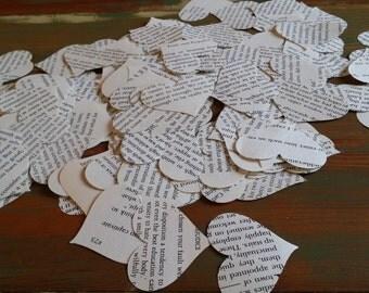 "Paper Hearts - Jane Austen - Pride ans Prejudice - Heart Punches 200 Count - 1 3/4"""