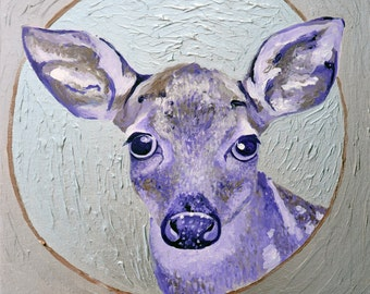 Deer with Silver Halo Fine Art Print
