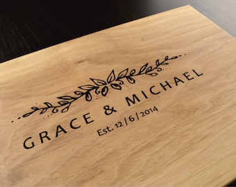 Engraved Cutting Board, Personalized Wedding Gift, Custom Anniversary Gift,  Housewarming Gift, Bridal Shower Gift, Wood Chopping Block