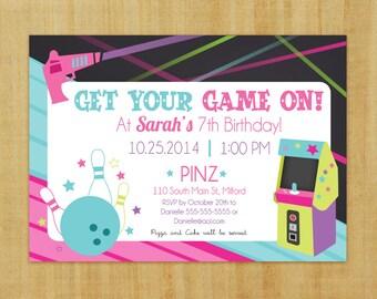 Laser Tag, Arcade, Bowling Party - Printable