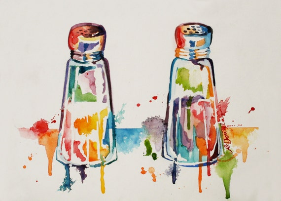 Salt and Pepper Giclee Print- Kristin Douglas ART