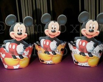 24 mickey cupcake wrappers