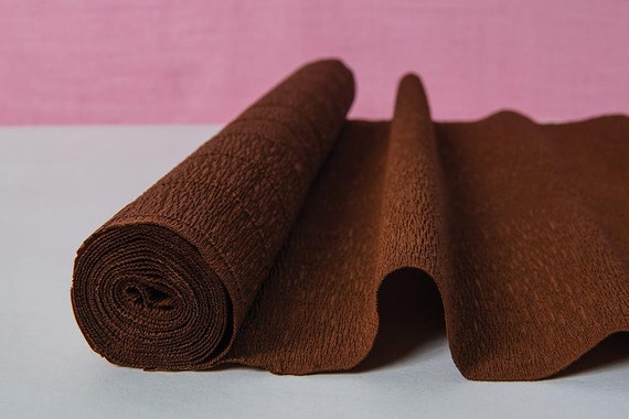 chocolate brown craft paper crepe paper roll and by. Black Bedroom Furniture Sets. Home Design Ideas