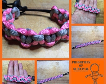 Weighted companion cube - adjustable survival bracelet