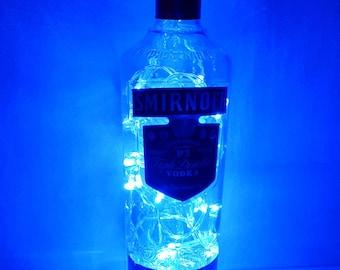 upcycled smirnoff vodka bottle lamp light