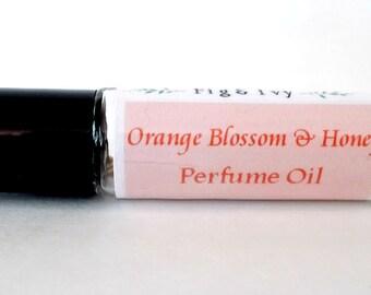 Orange Blossom Honey Perfume - Roll On Fragrance Oil - Sweet - Citrus - Womens Perfume - Vegan