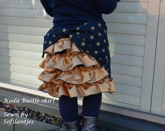 Koda Bustle Skirt PDF Pattern and tutorial - sizes 1 - 12 Girl  - By Koda Baby
