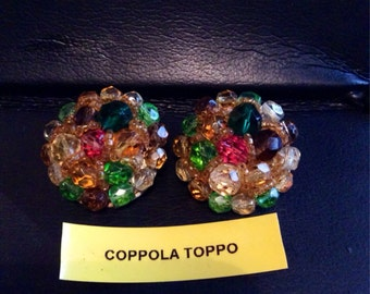 VERY RARE Coppola Toppo clip on Earrings.