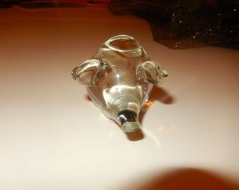PIG GLASS PAPERWEIGHT