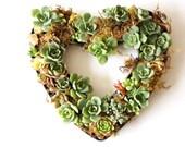 Succulent Heart Centerpiece, Valentines Day Centerpiece