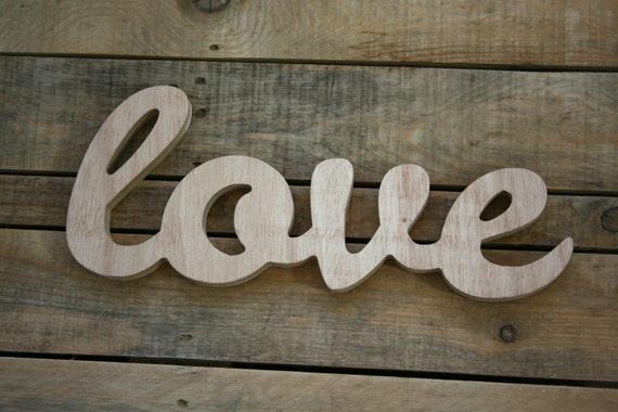 MOTHERS DAY LOVE Wooden Sign Home Decor Word Art Handwritten