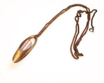 Vessel Necklace with Crystal Quartz