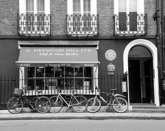 London Photography, Black and White Photography, Lonson Shop, Bookshop, Fine Art Print, London Decor, Bedroom Decor, Office Decor, Wall Art