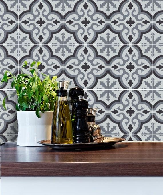 cuisine salle de bains carrelage stickers vinyle autocollant. Black Bedroom Furniture Sets. Home Design Ideas