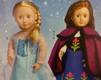 "Pattern McCalls Costume Disney Frozen Pattern 18"" Doll"