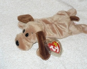 Brown Dog Stuffed Animal, Dog Gift Vintage Plushie Made by Ty Beanie Babie, Baby Shower Gift Ready To Ship