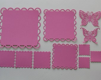 Squares, Butterflies, Square Die Cuts, Butterfly Die Cuts, Scrapbook Die Cuts, Paper Die Cuts, Die Cut Shapes, Die Cuts, Scrapbook Supplies