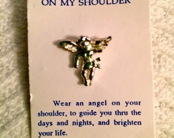 Vintage 1960s Angel On My Shoulder Pin