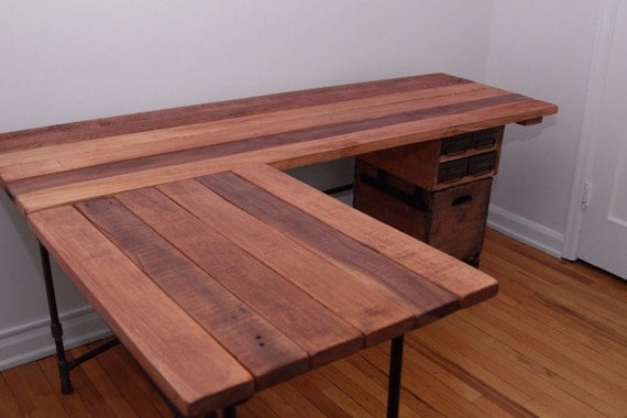 The Elle Desk Reclaimed Wood L Shaped Desk Wood By Ireclaimed