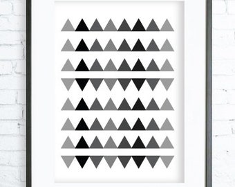 Mexican art, Triangles Pattern, Living Room Decor, Print Art, modern art,Triangles print,Triangles Printable