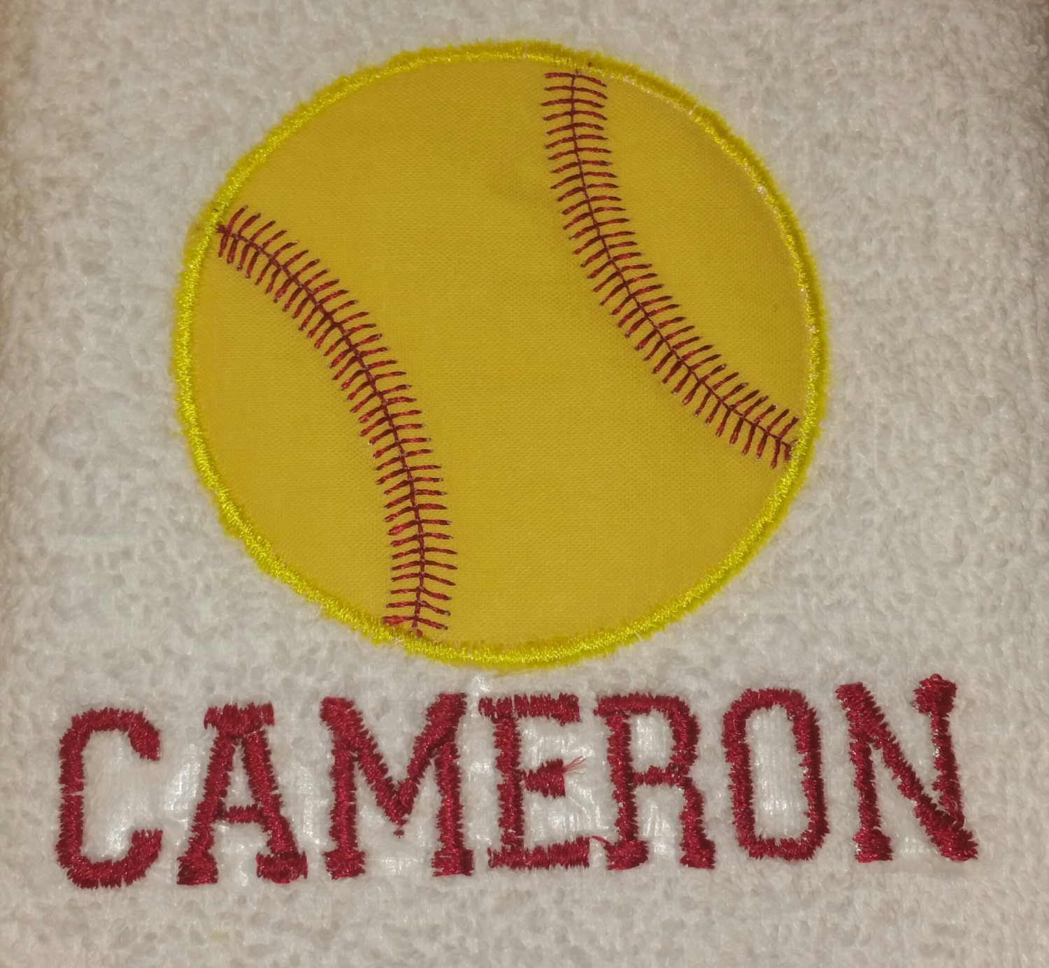 Softball Personalized Sports Towel By EmbroideNai On Etsy