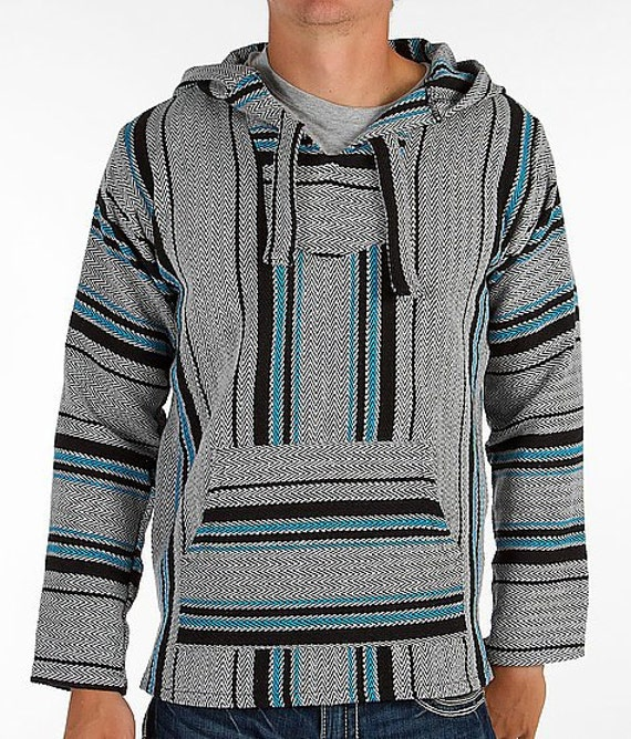 Mexican Threads Baja Drug Rug Hoodie Pullover By OrvinApparel