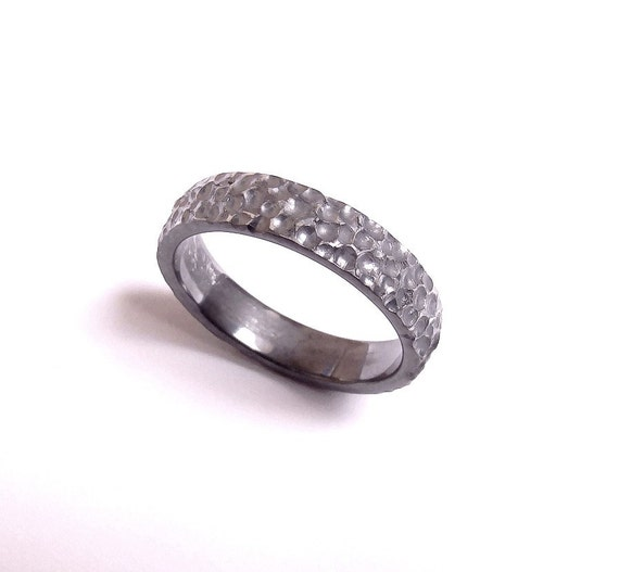 asteroid ring 5mm mens wedding ringrecycled silver cosmic
