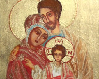 Orthodox Tempera/Wood Hand Painted Religious Icon