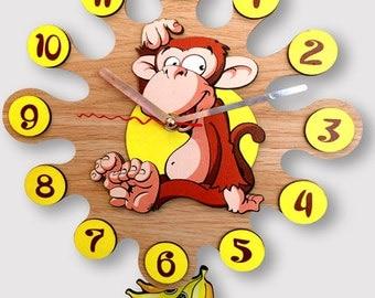 Pendulum Wall Clock Monkey