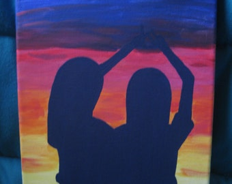 """Silhouette of Sorority """"Throw What You Know"""" Symbol"""