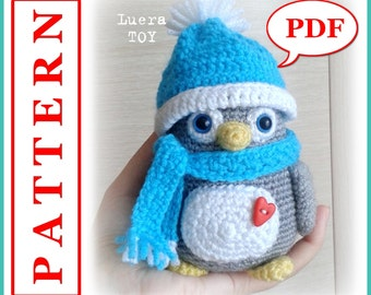 Mr. Penguin-Crochet toy Amigurumi pattern PDF