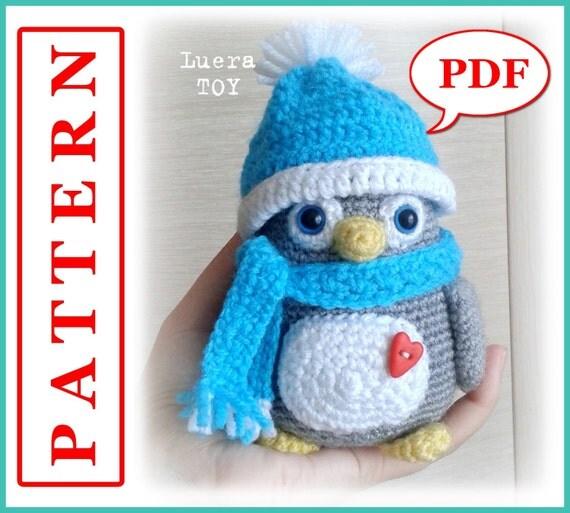Amigurumi Crochet Penguin Pattern : Mr. Penguin Crochet toy Amigurumi pattern PDF