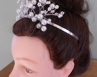 Silver and Pearl Wedding Tiara. Reduced Sale Price