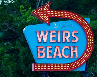 Welcome to Weirs ~ Photograph, Weirs Beach Photo, Lake Winnipesaukee Photo, New Hampshire Photo, Gifts, New Hampshire Photos