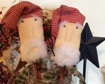 Set of 2!!! Primitive Santa pokes