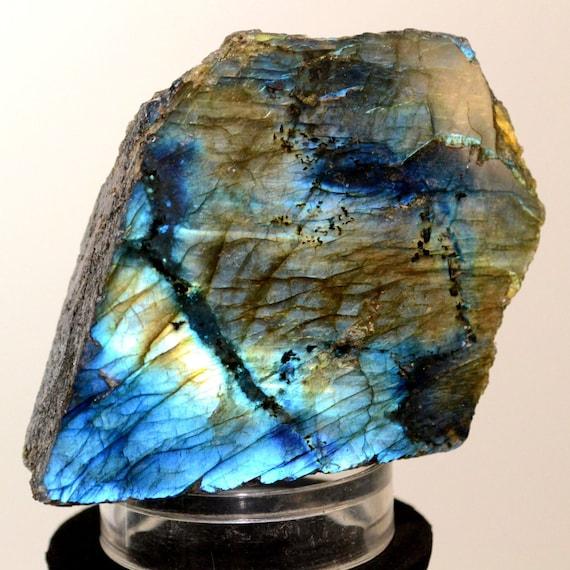 Feldspar Stone Slabs : Labradorite spectrolite slab feldspar mineral azure by hqrp