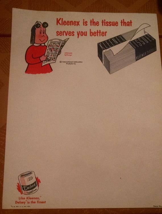 Little Lulu Advertising Stationery / Signage Paper for Kleenex