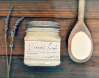Coconut Lavender Mason Jar Soy Candle