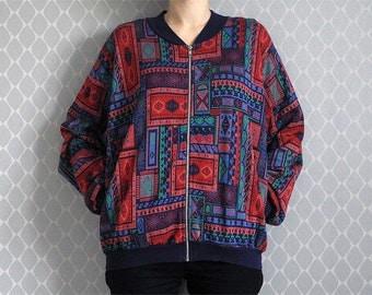 Jersey jacket patterned